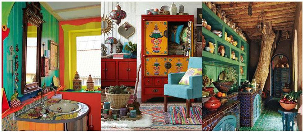 estilo gypsy en hogares alegres