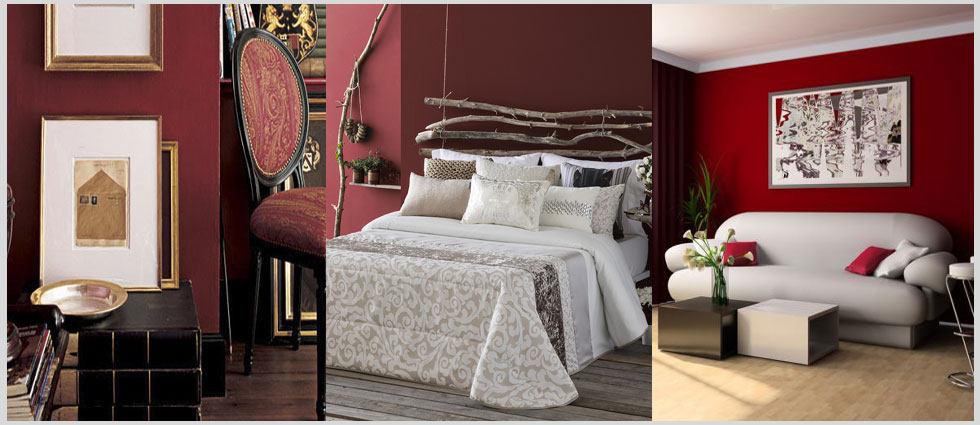 Color vino en decoración de sus estancias preferidas