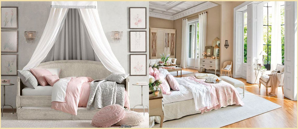 Estilo rom ntico para decorar dormitorios acogedores - Decoracion de salones estilo romantico ...