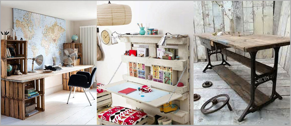 escritorio vintage práctico