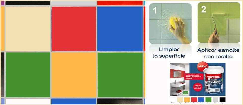 Rodillo para pintar superficies - Colores pintura azulejos bano ...