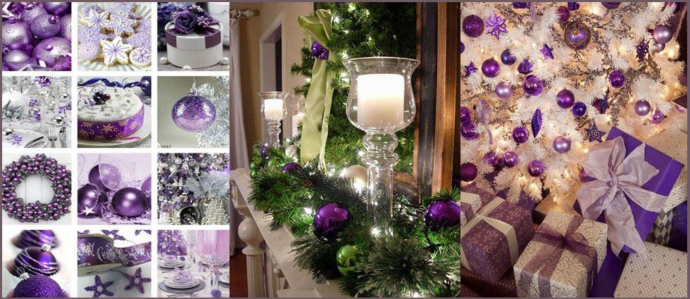 decoración navideña en morado ideal para las navidades