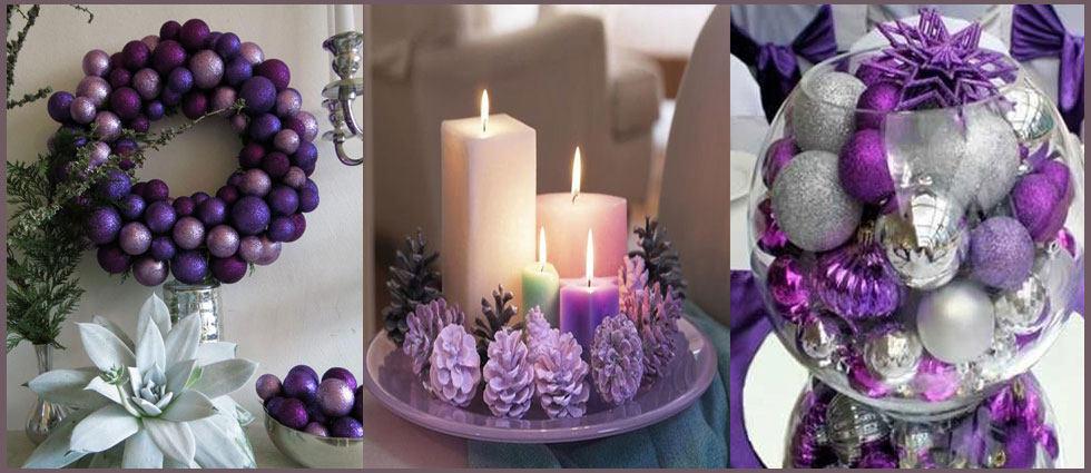 decoración navideña en morado muy atrevida