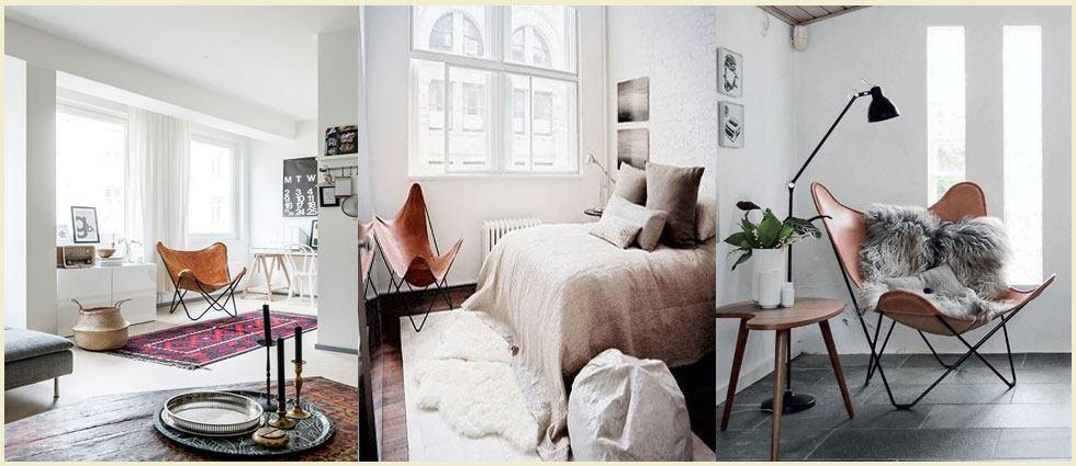 Silla butterfly es perfecta en habitaciones