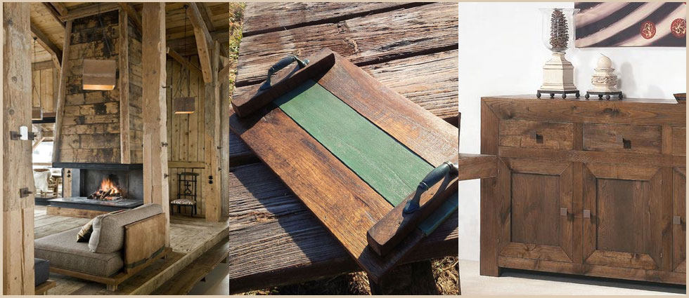 madera de castaño envejecido