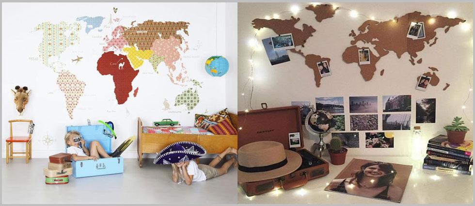 decoración con mapas los hogares