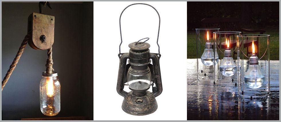 lámparas de aceite fabricadas caseras