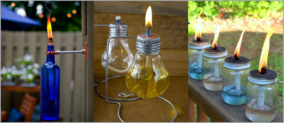 lámpara de aceite sencillas y originales