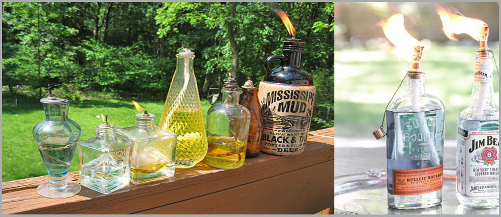 lámparas de aceite para jardines