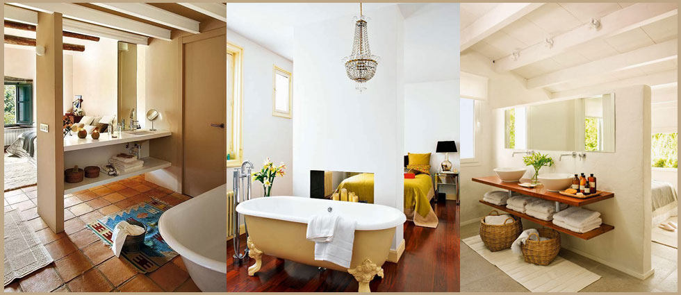 baño integrado en el dormitorio atrevido