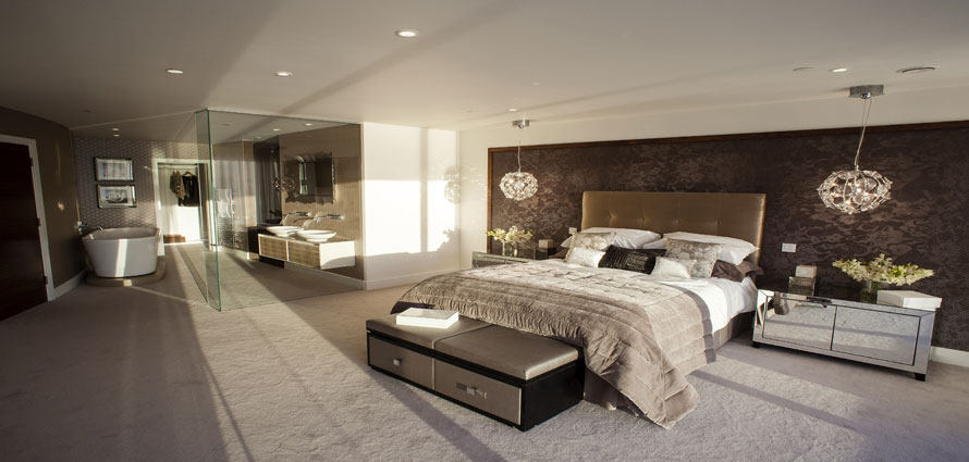 baño integrado en el dormitorio de tendencia