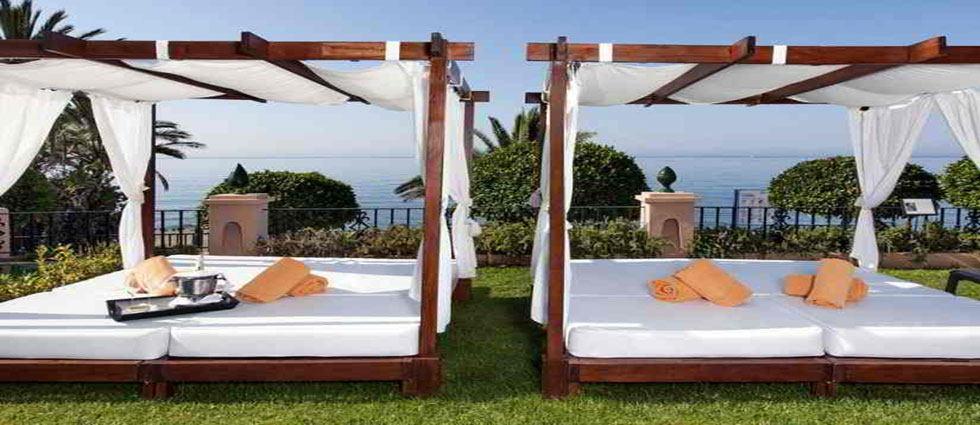 camas balinesa para jardines
