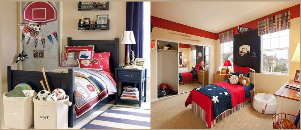 decoración con elementos deportivos dormitorios