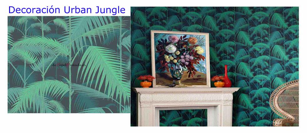 decoración urban jungle de tendencia