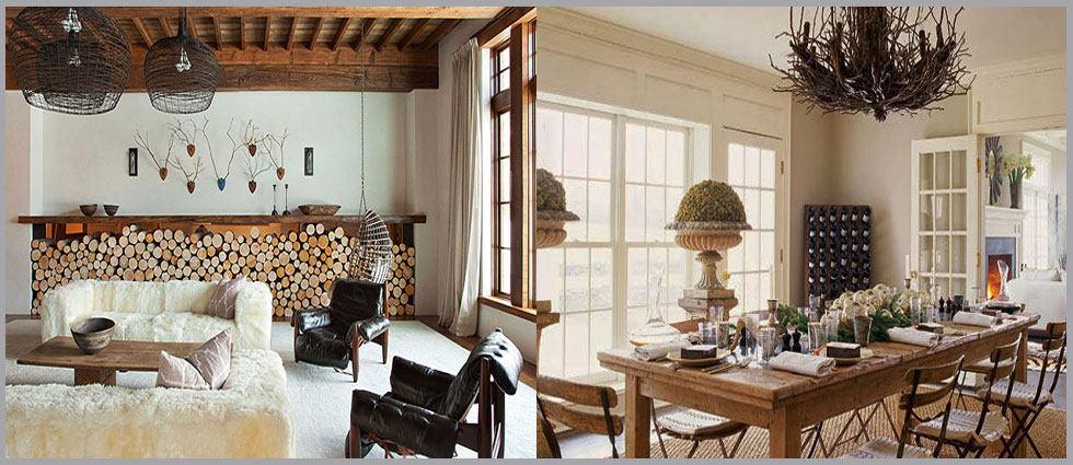 interiores de estilo rústico chic