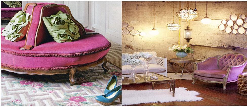 terciopelo en decoración de interiores