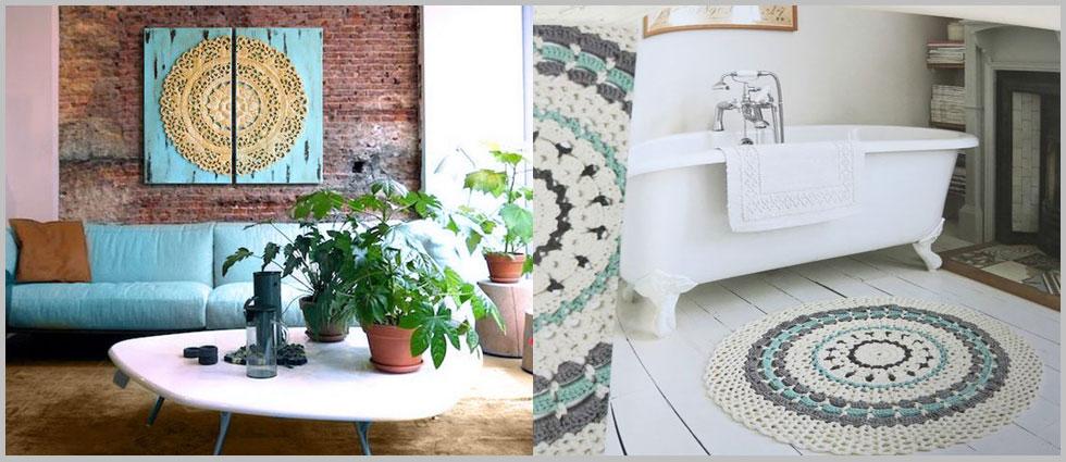 decoración con mandalas baños