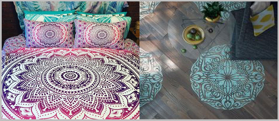 decoración con mandalas de colores