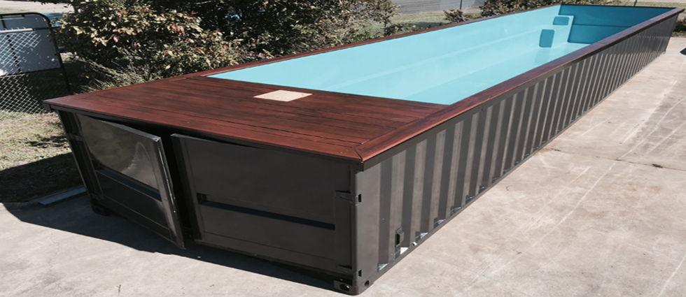 piscinas de contenedores industriales ideales para el baño