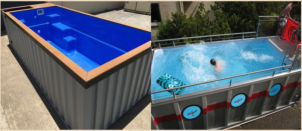 piscinas de contenedores industriales originales