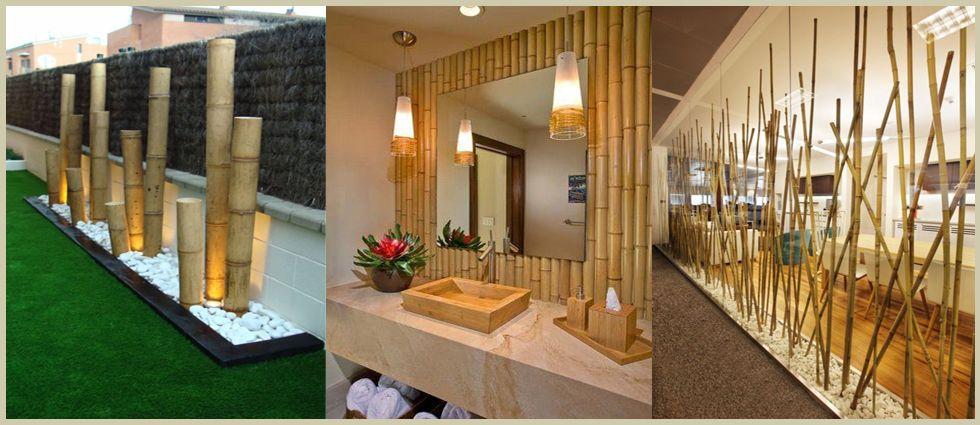 bambú de moda en los hogares