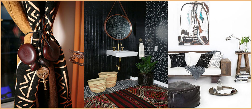 Mud Cloth en decoracion de todos los estilos decorativos