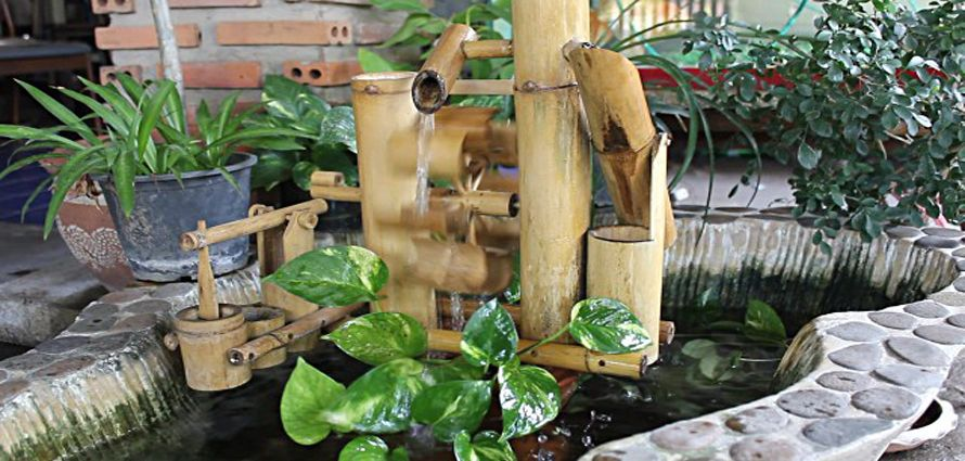 fuentes de agua natural de mimbre