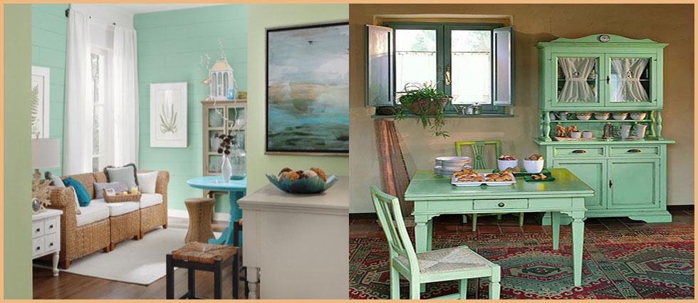 verde menta en decoracion moderna