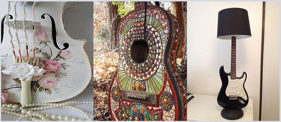 guitarras en la decoración del hogar