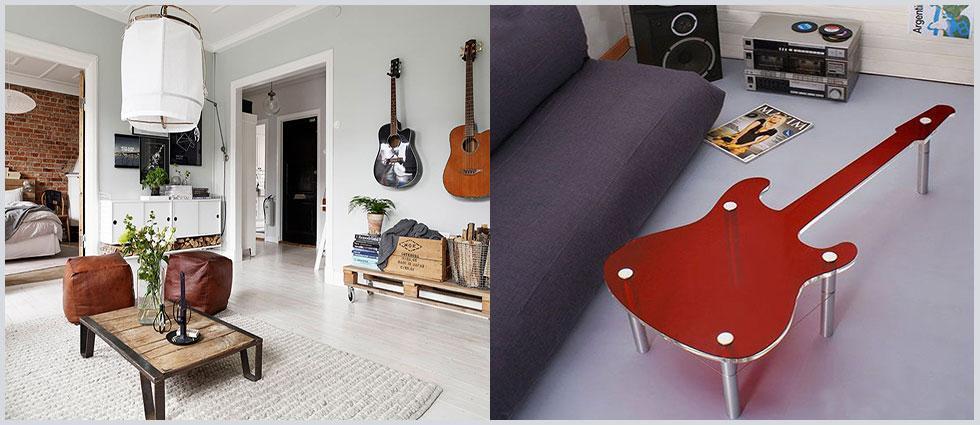 guitarras como elemento decorativo