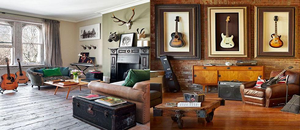 ideas para decorar con guitarras