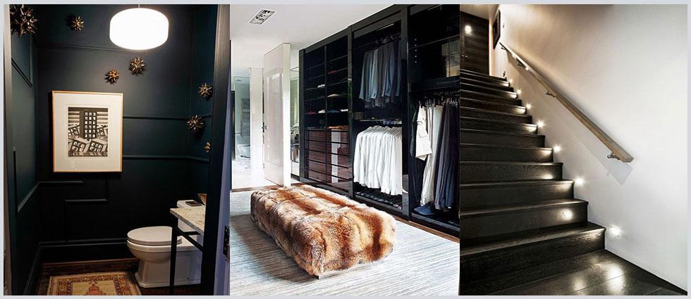 madera en color negro elegante