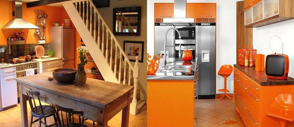 naranja calabaza en todas las estancias