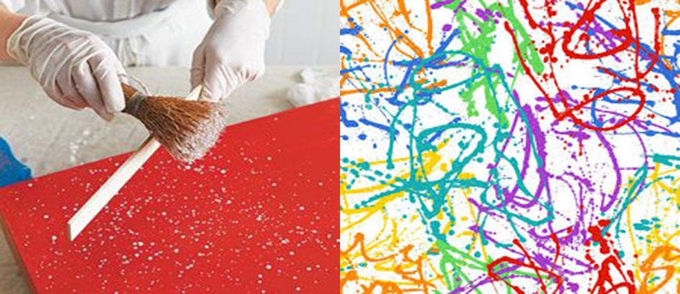 Splatter O Tecnica Del Salpicado En Decoracion La Casa De Pinturas