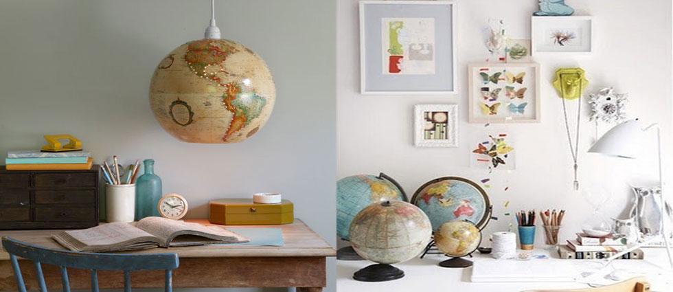 globos terráqueos originales