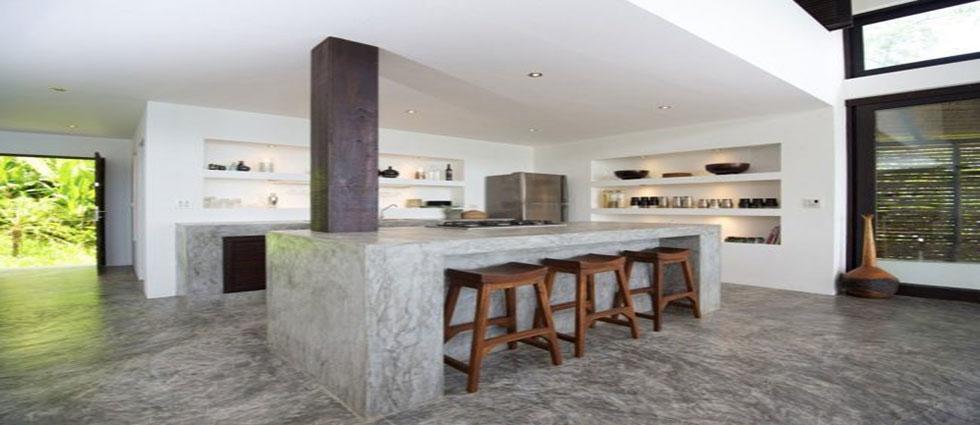 cocinas de cemento decorado