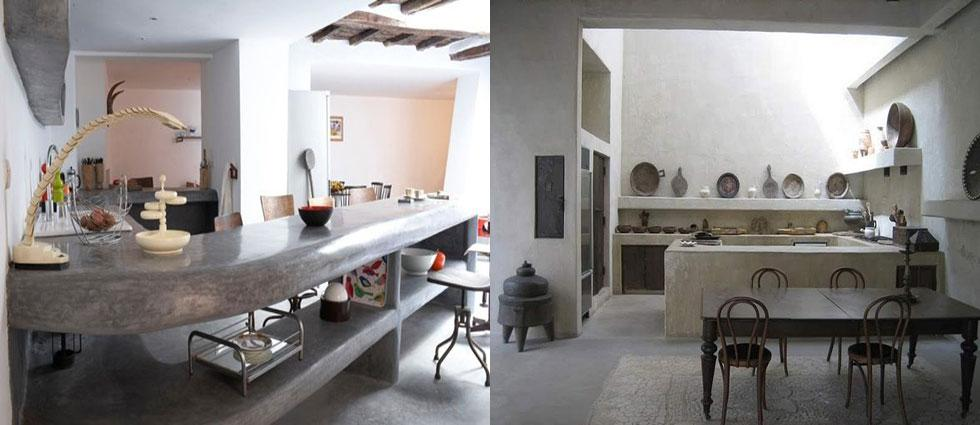 cocinas de cemento en encimeras
