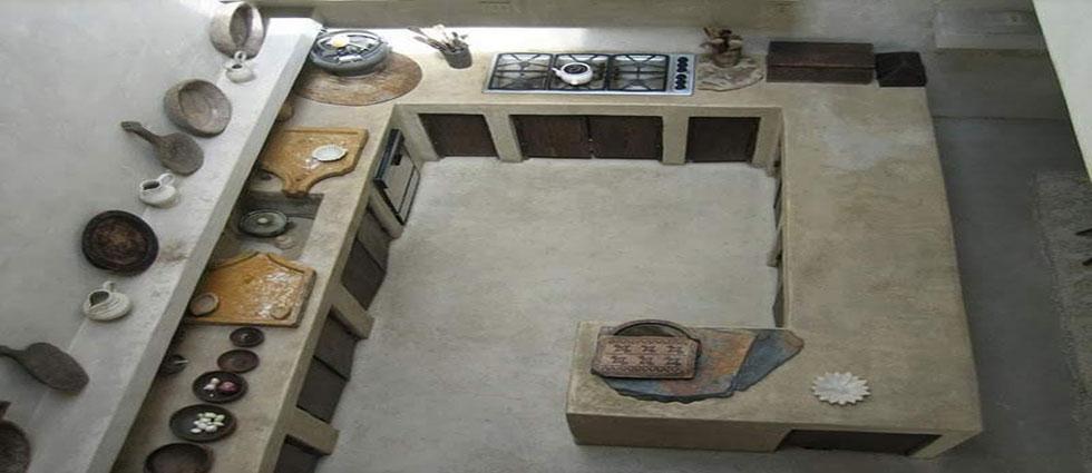 cocinas de cemento de actualidad