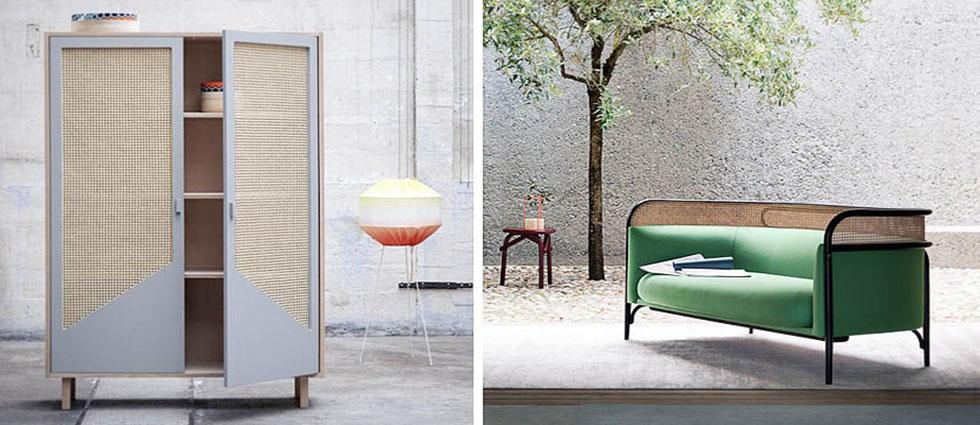 la decoración que se lleva en 2018 muebles rejilla