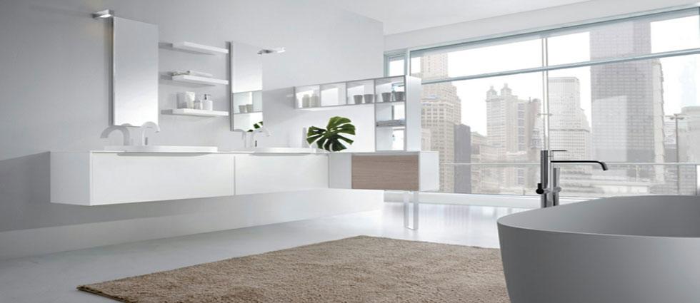 la decoración que se lleva en 2018 baños blancos