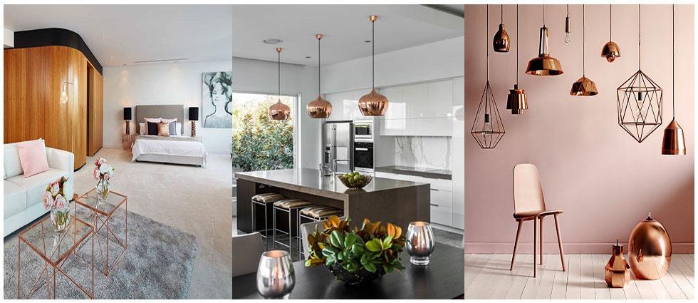 tendencias en decoración cobre y latón de moda
