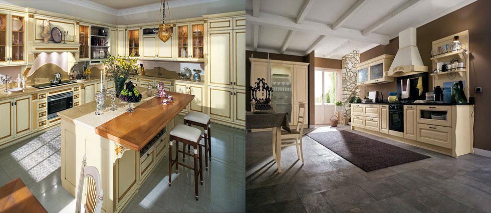 cocinas de madera en beig