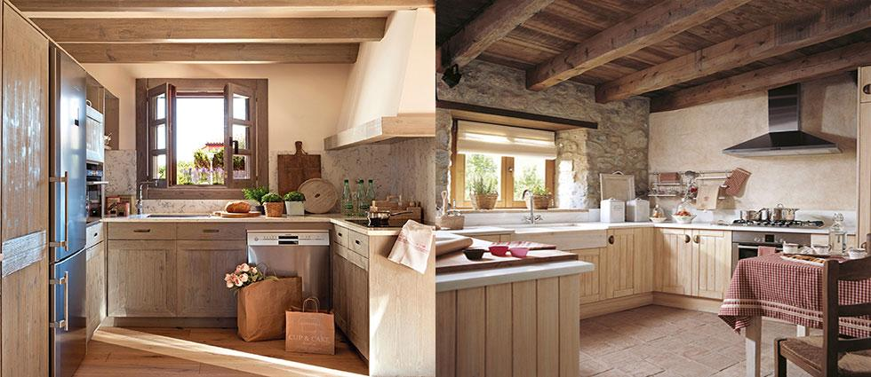 cocinas de madera decoradas