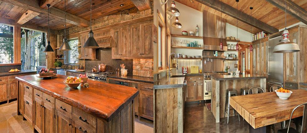cocinas de madera estilo rustico