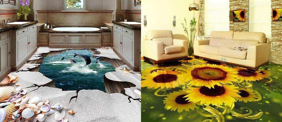 suelos efecto 3d de lujo