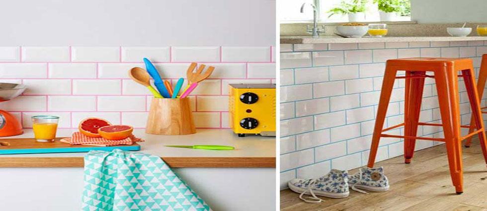 tendencia renovar azulejos coloreando las juntas