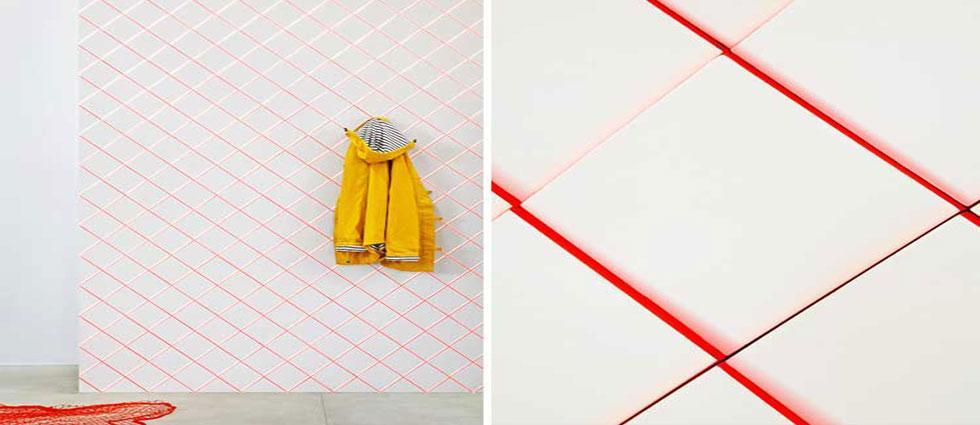 renovar azulejos coloreando las juntas de colores llamativos