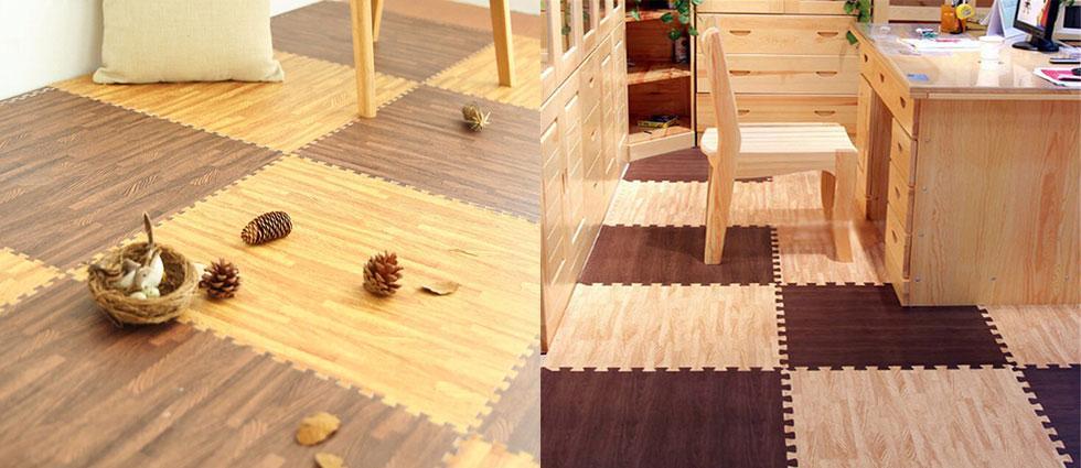 suelos de goma eva imitación madera
