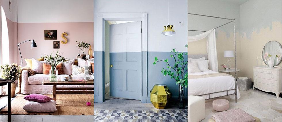 paredes a medio pintar para decorar ambientes