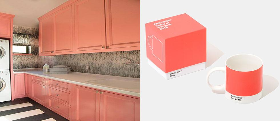 living coral color pantone del 2019 de moda